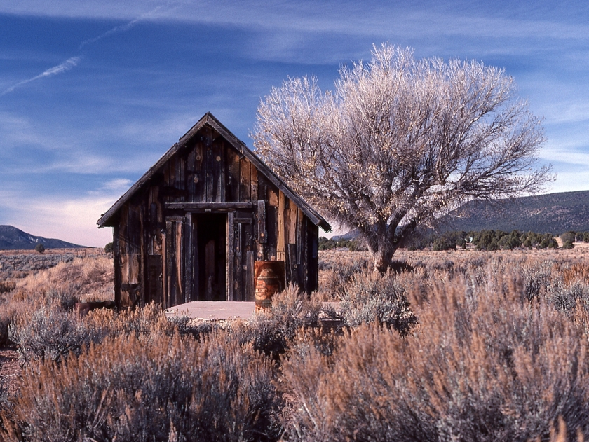 Abandoned ranch house at Wolf Creek, Arizona - Edward Abbey country
